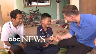 11-year-old Thai soccer player held onto coach