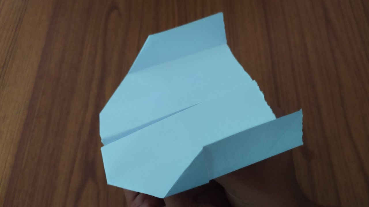 HOW TO MAKE A BOOMERANG PAPER PLANE