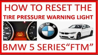 BMW 5 SERIES - HOW TO RESET THE TIRE PRESSURE WARNING LIGHT ON A BMW 530i Series