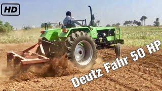 Same Deutz Fahr 50 hp Tractor   Five Tine Cultivator for Sugarcane farming field