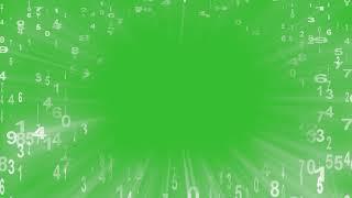 Green Screen Figures Frame Effect Chrome Key Footage Футаж Рамка Эффект Цифры Ramka