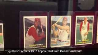 DeansCards.com Baseball Card Display at Cincinnati Reds Hall of Fame