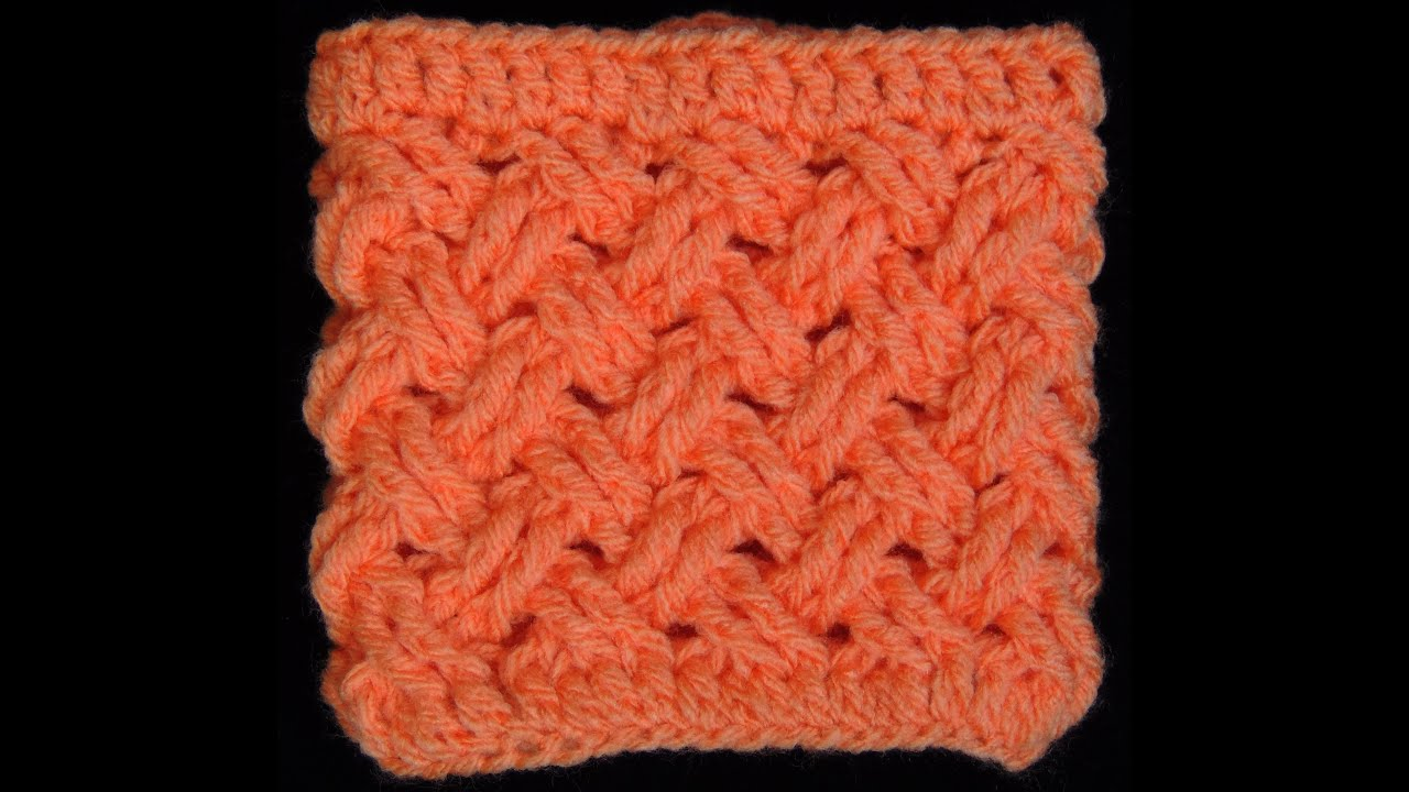 Crocheting Videos : Crochet : Punto Entrecruzado (Tejido de Cesta) - YouTube