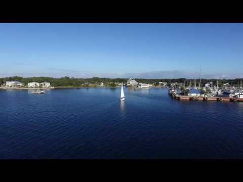 Aerial Video of Panama city and St. Andrews Beach Florida Great Travel Destination