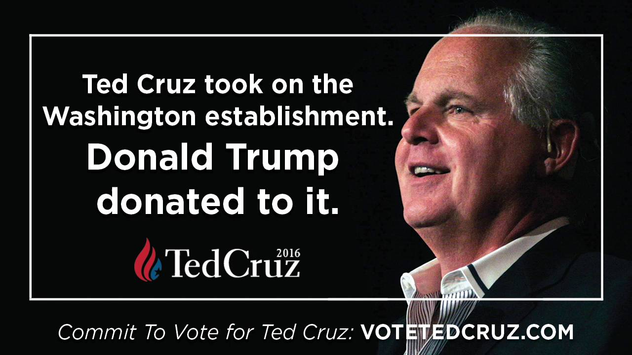 Ted Cruz Quotes Rush Limbaugh Ted Cruz Fought The Washington Establishment