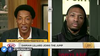 Scottie Pippen Asks Damian Lillard Why Is He So Loyal To Portland? | The Jump