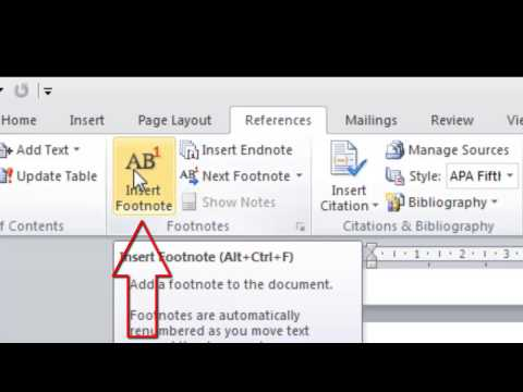 How to insert footnotes into a word document