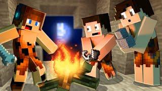 VIVENDO COMO HOMEM DAS CAVERNAS !! - Minecraft Primitivo #01