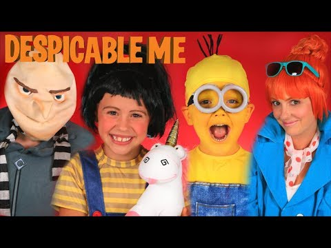 Despicable Me 3 Gru Lucy Minion and Agnes Makeup and Costume Tutorial