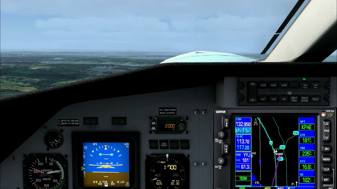 Carenado PC12 Reality XP GNS-530W RNAV 16R Approach