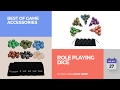 default - SmartDealsPro 5 x 7-Die Series Two Colors Dungeons and Dragons DND RPG MTG Table Games Dice with FREE Pouches