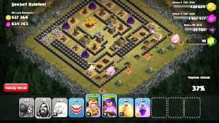 Clash of clans okçu kraliçe vs barbar kral