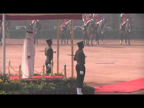 Ceremonial Reception of the King of Kingdom of Bahrain - 19-02-2014