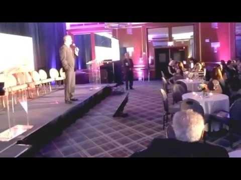 Massachusetts Governor Charlie Baker speaks at SmartCEO Brava Boston awards