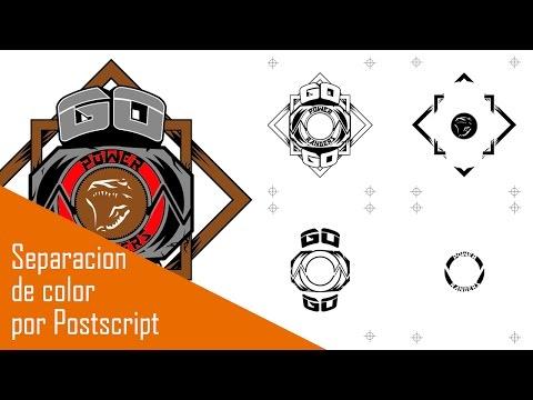 Separación de color por postscript para serigrafia (illustrator)