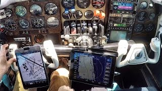 Flying with an iPad - Avidyne IFD100 Flying VLOG with ATC & Weather