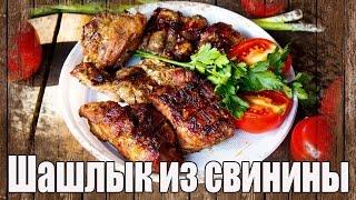 Шашлык из свинины. Сочный шашлык из свинины с луком