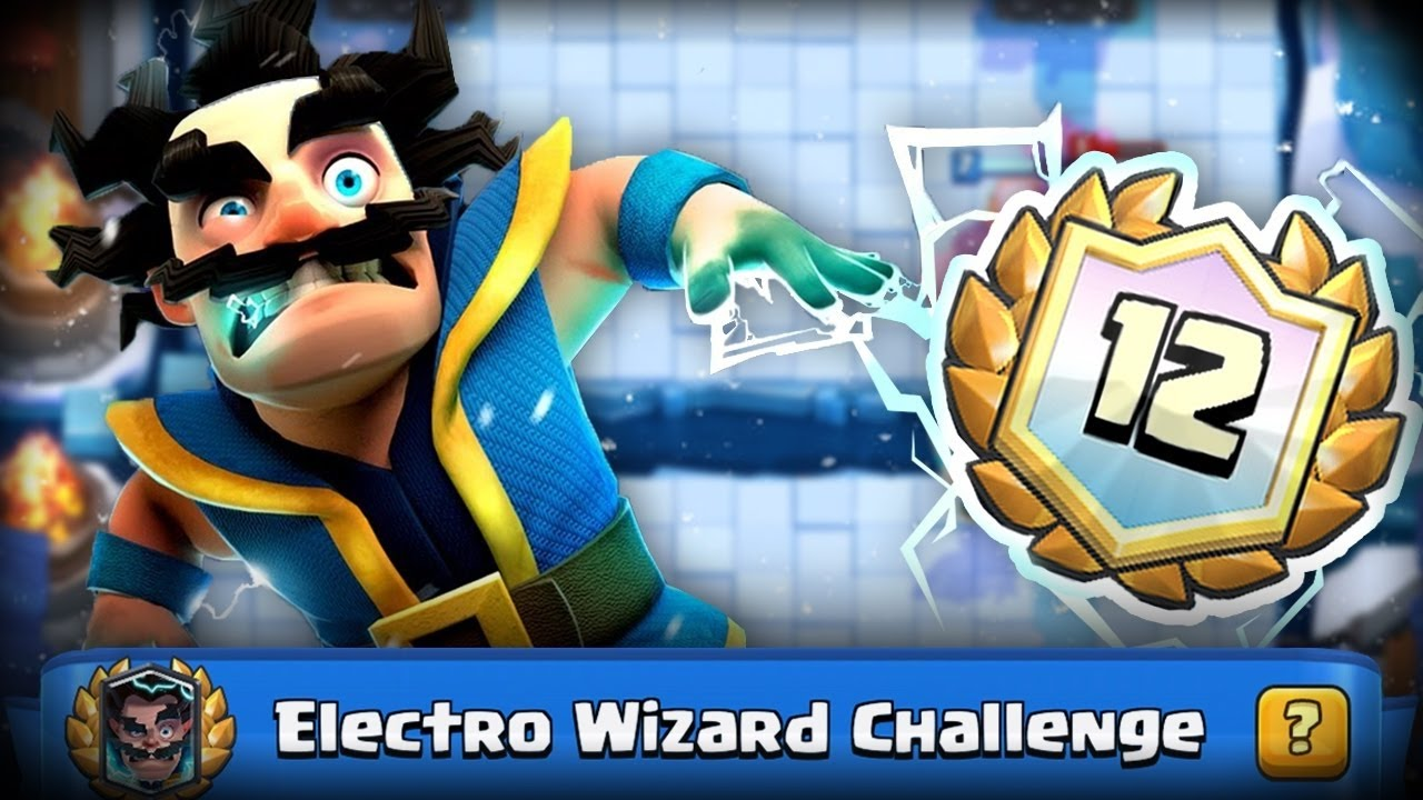 12 win electro wizard deck clash royale indonesia youtube