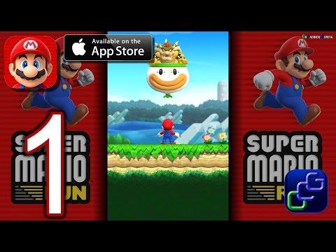 Super Mario Run iOS Walkthrough - Gameplay Part 1 - Tour World 1