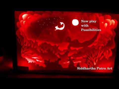 Paper-cut Light Box Demo | Siddhartha Patra | AlterEgo | IISER Kolkata