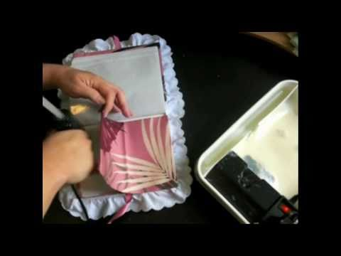 How to Make a Fabric Covered Photo Album with CookingAndCrafting - Tutorial