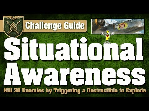 CoD WW2: How To Do The Situational Awareness Challenge (Precision Challenges)