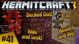 Decked out! Hide and seek! Death and life! Hermitcraft ep 41!