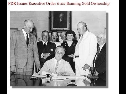 FDR steals the people's gold
