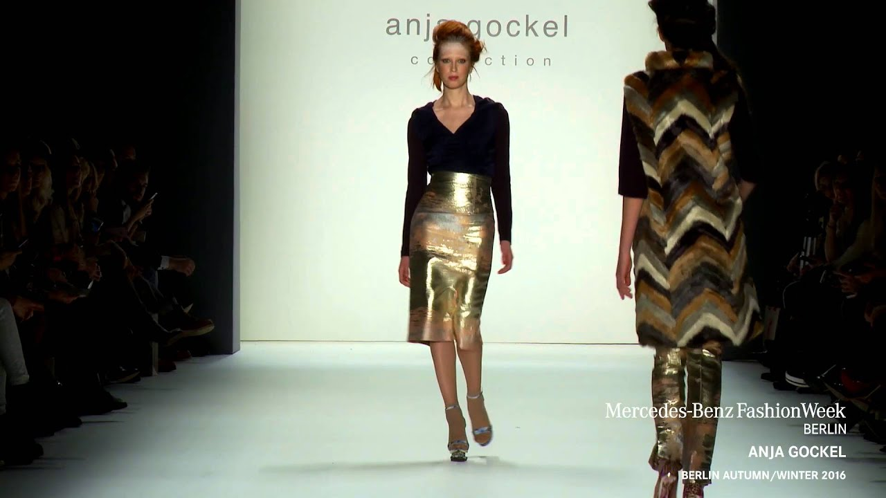Anja Gockel Mercedes Benz Fashion Week Berlin Aw2016 Youtube