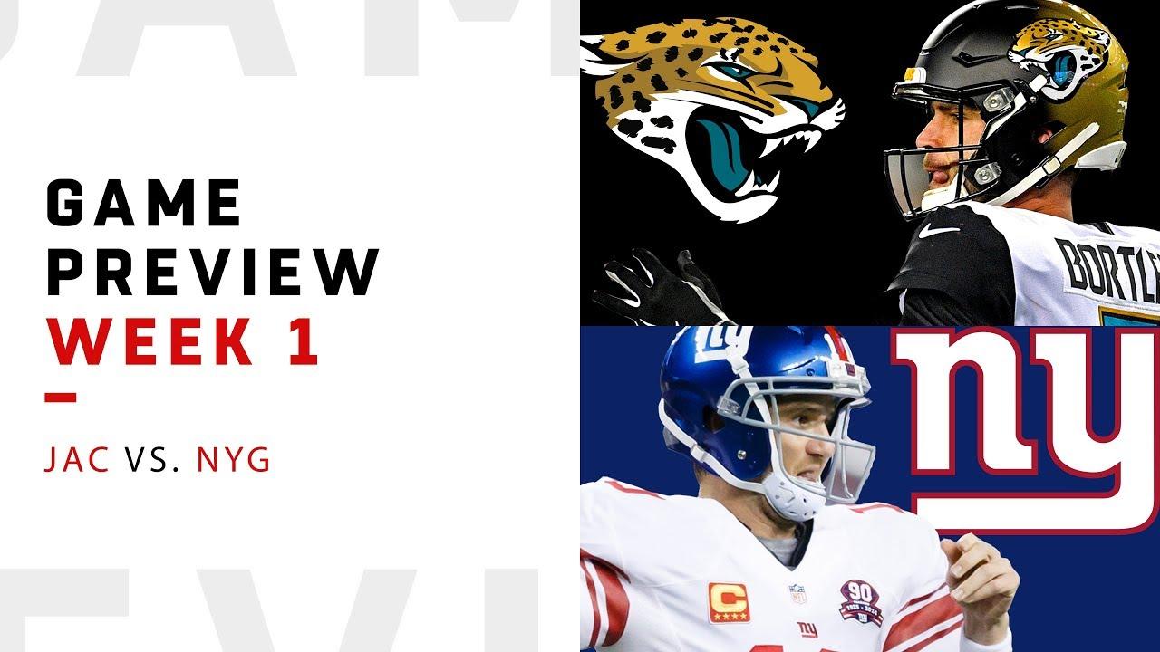 Jacksonville Jaguars vs. New York Giants | Week 1 Game ...