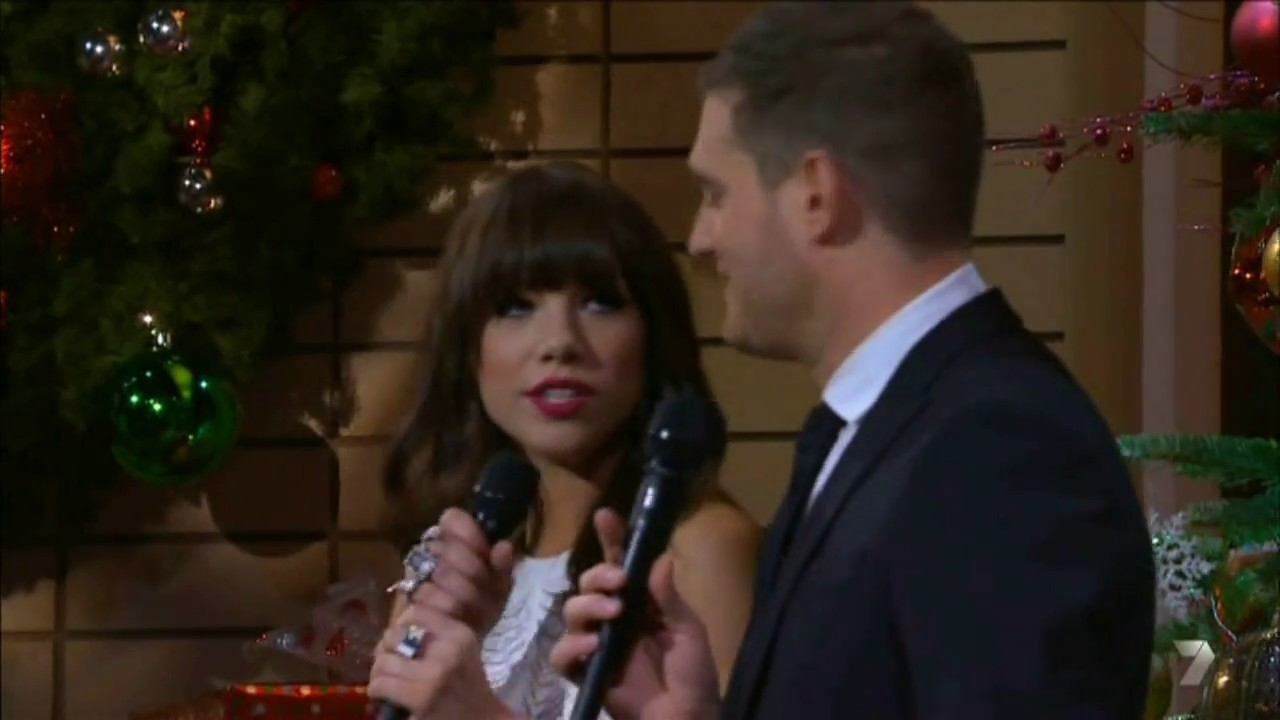 Michael Buble Weihnachten.Michael Bublé Carly Rae Jepsen Rockin Around The Christmas Tree