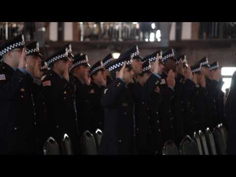 Chicago Police Graduation at Navy Pier on February 2, 2017