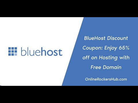 BlueHost Discount Coupon: Enjoy 65% off on Hosting with Free Domain