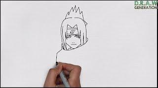Cara Gambar Sasuke Uchiha Gampang Banget