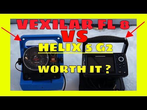 Vexilar FL 8 VS Humminbird Helix 5 CHIRP GPS G2