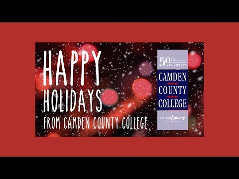 Camden County College Holiday Card 2017