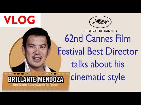 Cannes Best Director Awardee Brillante Mendoza talks about h