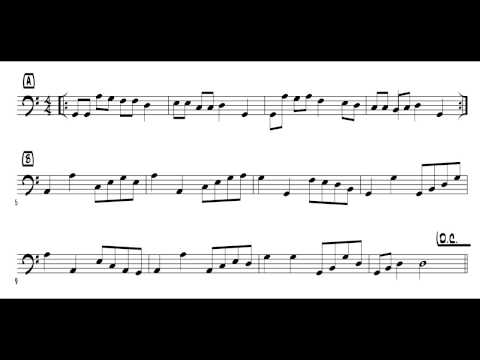Sightreading for bass players (Exercise #19)