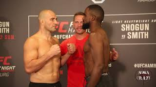 UFC Fight Night Hamburg Glover Teixeira vs. Corey Anderson weigh in face off