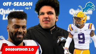 Detroit Lions Off-Season TAKEOVER! Prospect Scouting/Signing Deals: Detroit Lions Talk ep.1