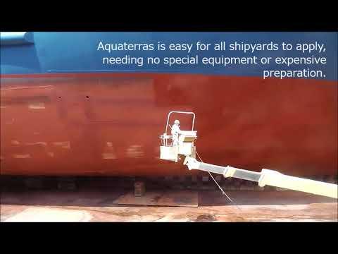 Aquaterras during application   Nippon Paint Marine