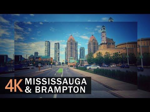 Mississauga & Brampton 4K60fps - Driving Ontario, Canada