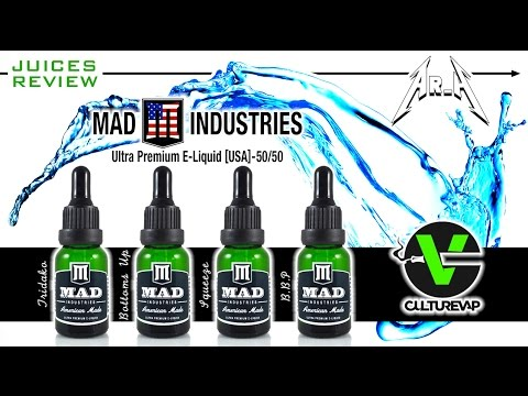 JUICES REVIEW : la gamme de chez MAD INDUSTRIES [USA]^^