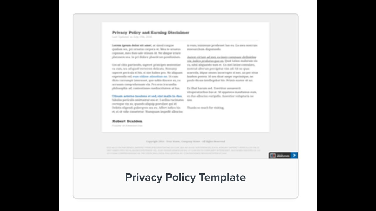 Inputting Privacy And Terms And Conditions Pages YouTube - Privacy page template