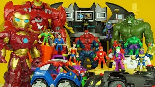 SPIDERMAN, BATMAN, IRON MAN, HULK & MORE superhero toys, lego batman, hulk family toys