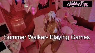 Summer Walker- Playing Games Audio (Lyrics)