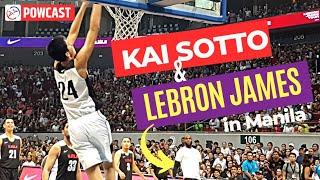 LEBRON JAMES AND KAI SOTTO PLAYED BASKETBALL IN MANILA? |  THE LEBRON IN MANILA VISIT VLOG