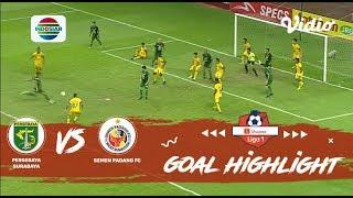 Persebaya Surabaya (1) vs Semen Padang FC (1) - Goal Highlights | Shopee Liga 1