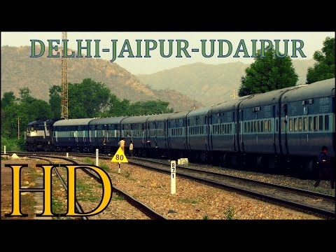 INDIAN RAILWAYS | COMPLETE DIESEL JOURNEY THROUGH THE HEART OF RAJASTHAN | DELHI-UDAIPUR via JAIPUR