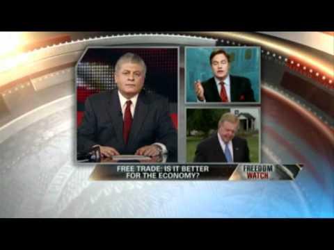 Tom Palmer debates Free Trade with Lou Dobbs on Fox Business